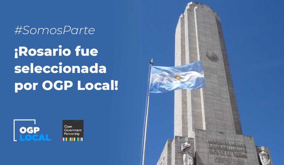 ¡Nos postulamos y ganamos! Rosario fue seleccionada para OGP Local
